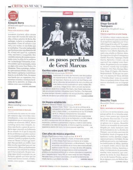 Diego García en Rolling Stone. Diciembre 2013